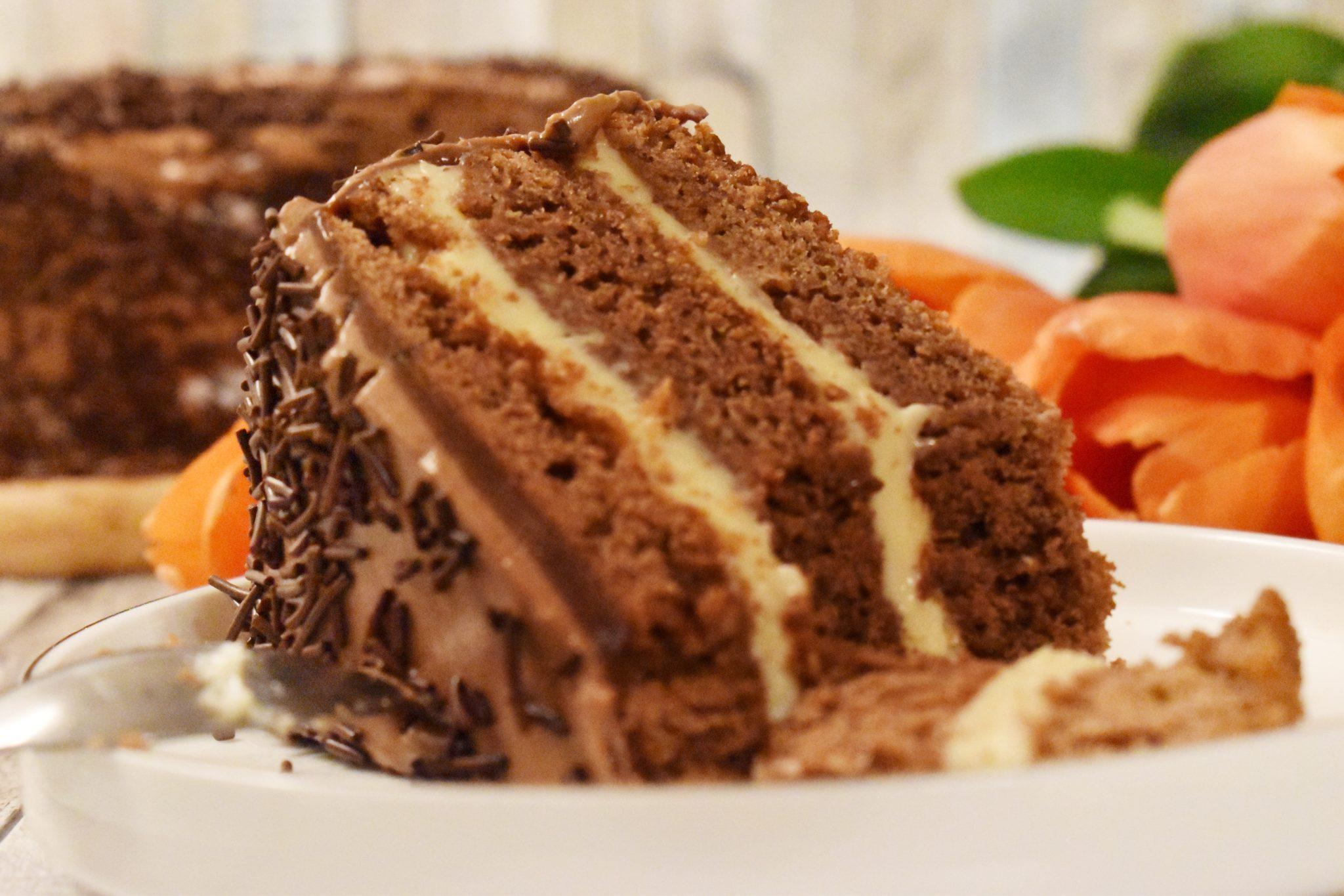 Tort brownie cu dulce de leche