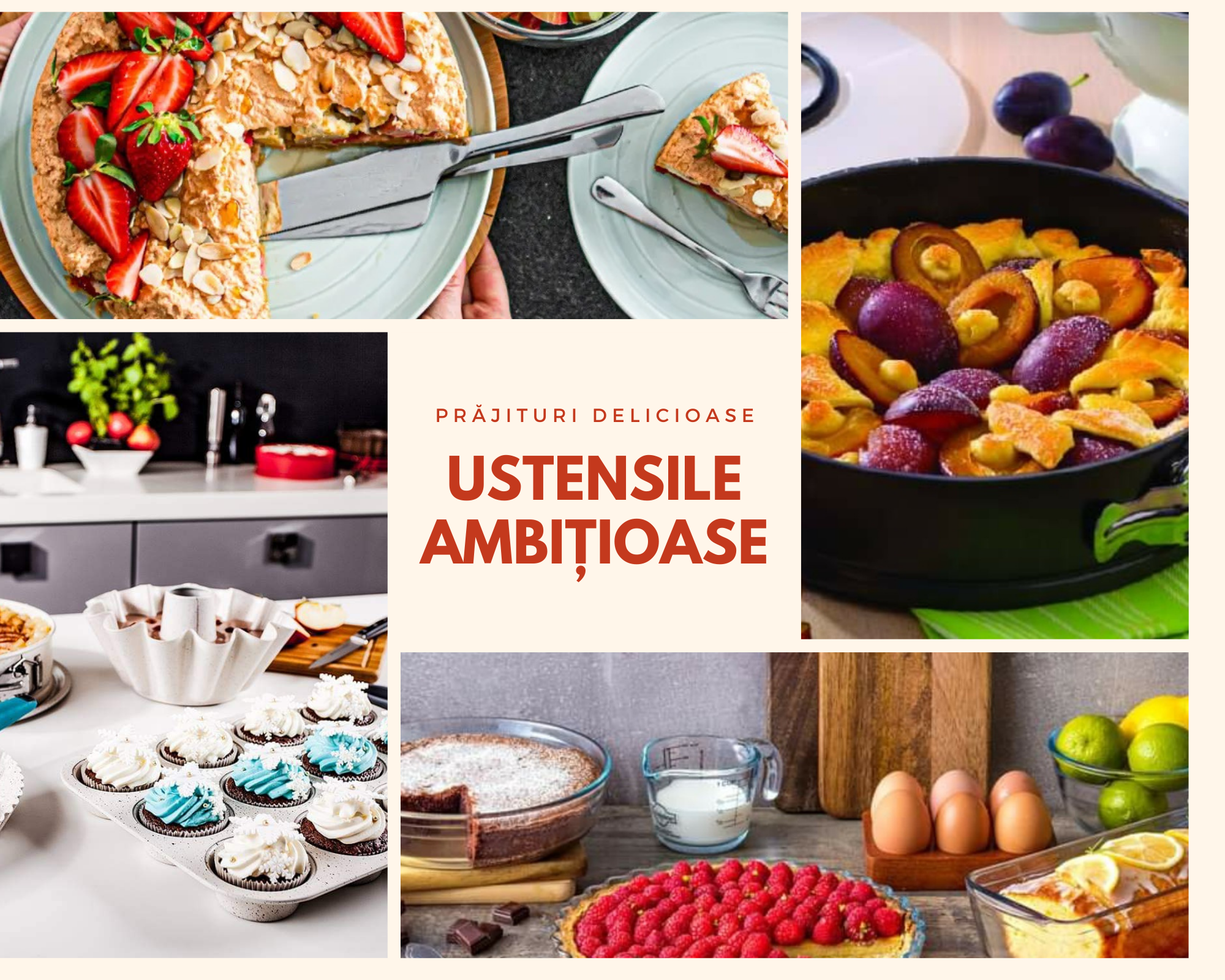 Prăjturi delicioase cu ustensile ambițioase